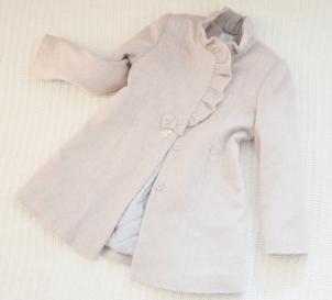 Kabátik SLY, farba svetlunko ružová so svetlošedou