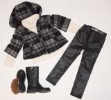 Kabátik s 3/4 rukávmi a koženkové legíny GAP, pulovrík ZARA, kožené čižmičky Mayoral